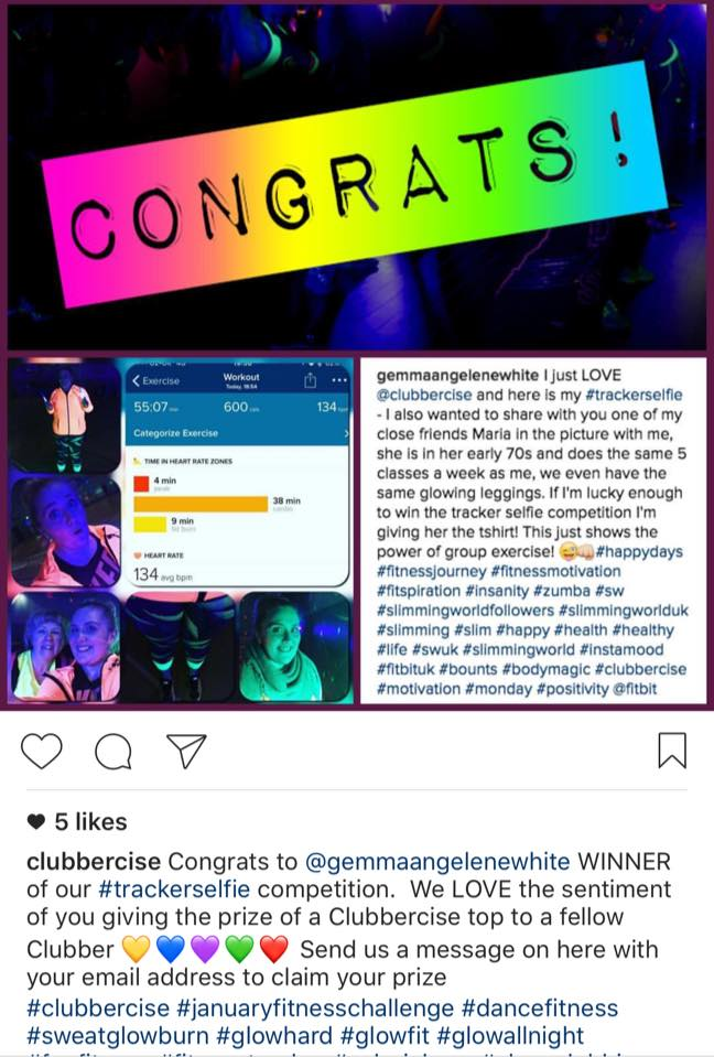 clubbercise win